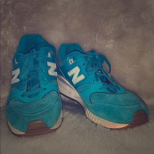New Balances 530 Teal Shoes Size 7.5